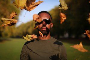 Otis Headshot with Leaves