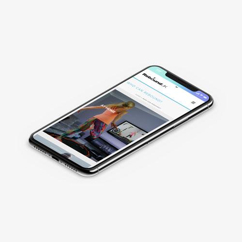 Rebound Fitness iPhone Layout
