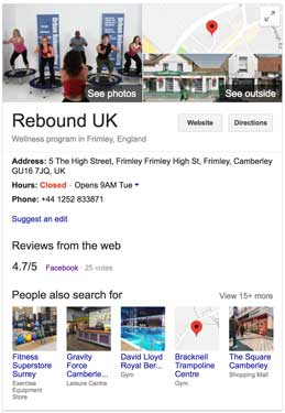 Rebound Google My Business Listing
